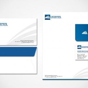 diseño de papelería corporativa Cedefer