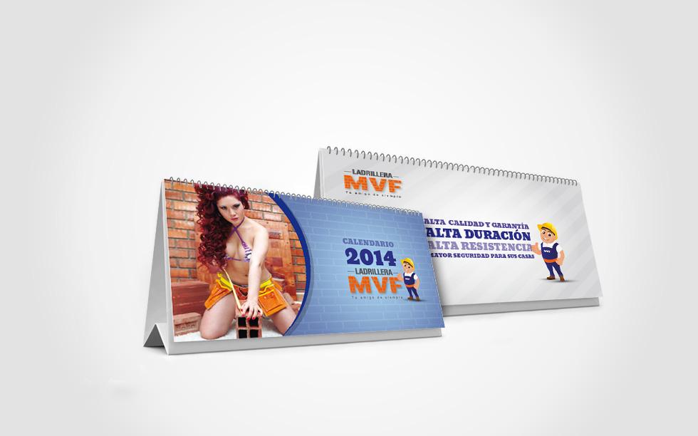 diseño de calendario ladrillera mvf