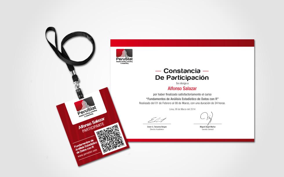 diseño fotocheck y diploma