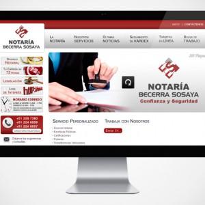 diseño web para notaria becerra sosaya