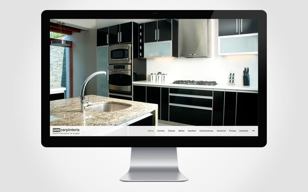 Diseño web en Wordpress Unocarpinteria